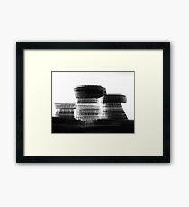 Blurred Buildings Framed Print
