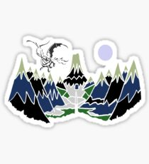 """ SMAUG "" Mountain  Sticker"