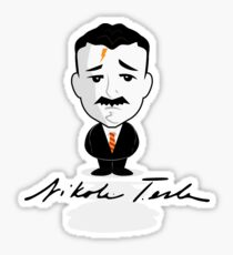 Mini Tesla Sticker