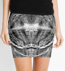 Pixels in Stone Mini Skirt