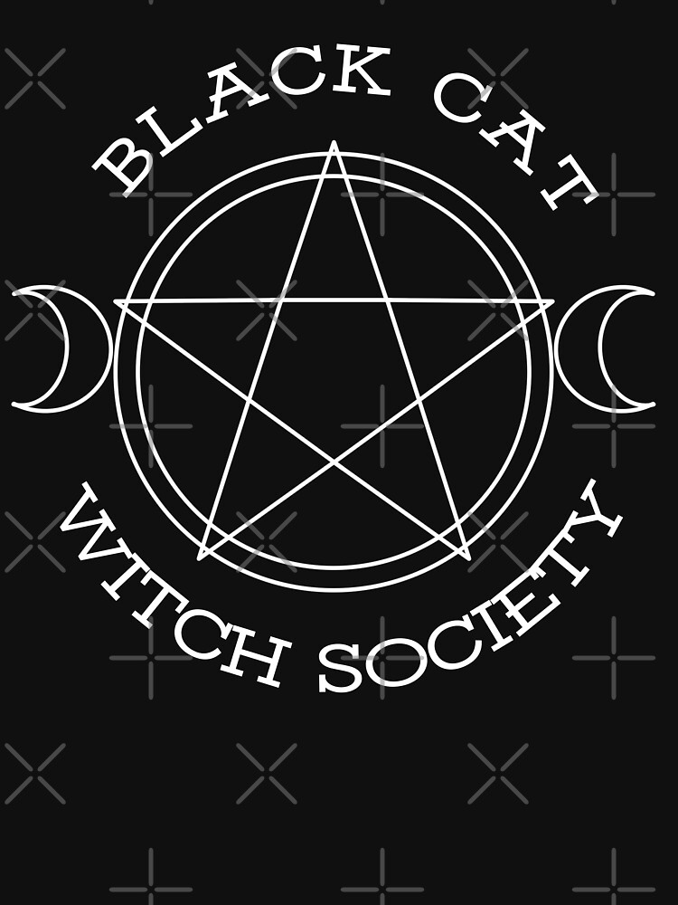 Black Cat Witch Society (white version) by siyi