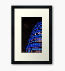 Moon Over PDC - Blue Framed Print