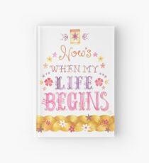 Tangled Typography Wann wird mein Leben beginnen Notizbuch