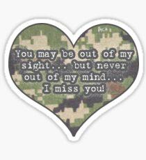 Military Love Sticker