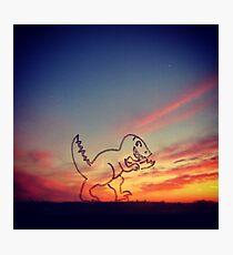 Sunset Dinosaur  Photographic Print