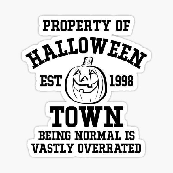Halloween Town Sticker