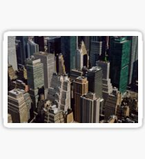 NYC from above Sticker