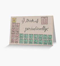 Chemistry Valentine Greeting Card