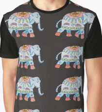 Decorated elephant Indian style Graphic T-Shirt