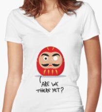 Restless Daruma - Are we there yet? Women's Fitted V-Neck T-Shirt