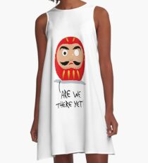 Restless Daruma - Are we there yet? A-Line Dress