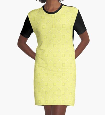 Pale Yellow Design by Julie Evehart Graphic T-Shirt Dress