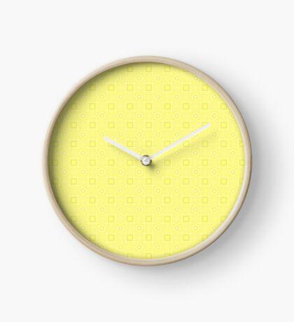Pale Yellow Design by Julie Evehart Clock