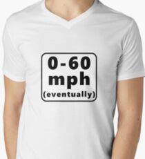 0-60 mph... eventually Men's V-Neck T-Shirt