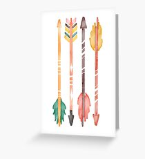 Watercolor Arrows Greeting Card