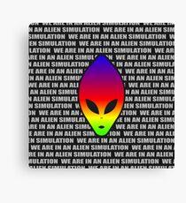 Alien Simulation World Canvas Print