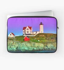 Lavender Sunset at Nubble Lighthouse Laptop Sleeve