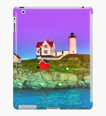 Lavender Sunset at Nubble Lighthouse iPad Case/Skin