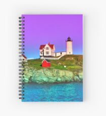 Lavender Sunset at Nubble Lighthouse Spiral Notebook