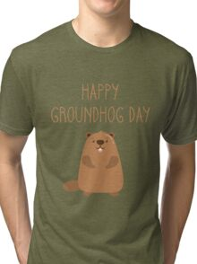 2017 Happy Groundhog Day Tri-blend T-Shirt