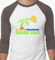 Bahamas Paradise Beach TShirt Bahamas Beach Sun Sand T-Shirt Men's Baseball ¾ T-Shirt