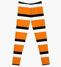 Orange Liquorice Allsort Coloured Pattern Leggings
