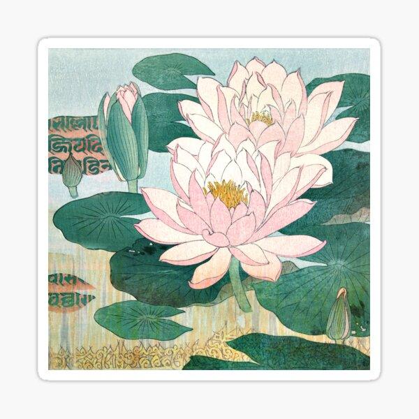 Sacred Lotus Flower Sticker