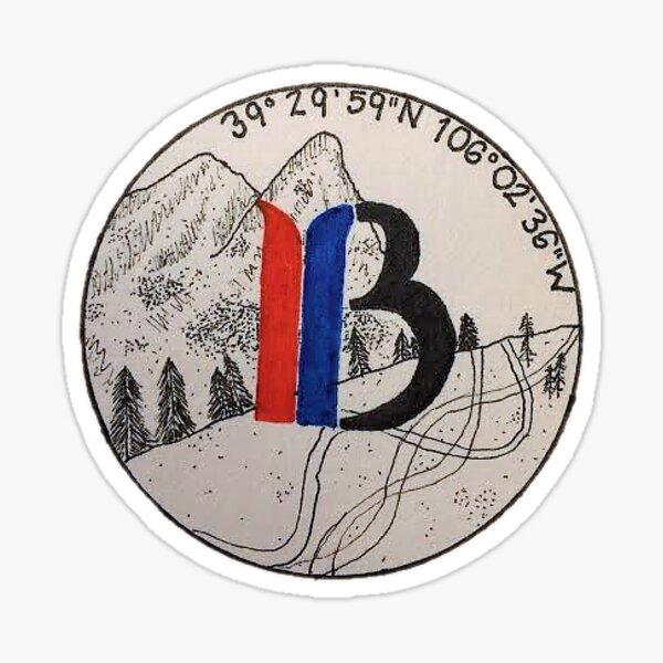 Breckenridge, CO Coordinates Sticker
