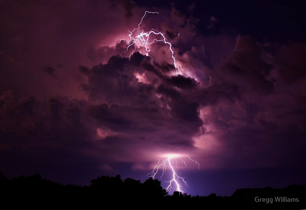 Lightning strike enlarged by Gregg Williams