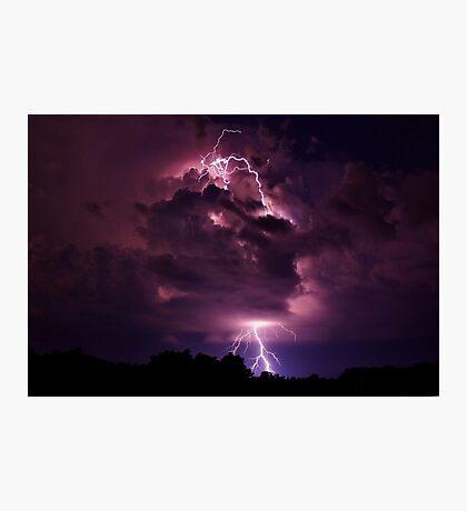 Lightning strike enlarged Photographic Print