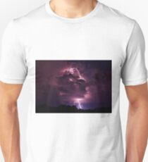 Lightning strike enlarged Unisex T-Shirt