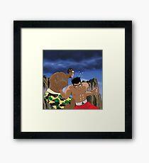 Chris Brown v.s Soulja Boy Framed Print
