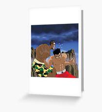 Chris Brown v.s Soulja Boy Greeting Card