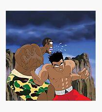 Chris Brown v.s Soulja Boy Photographic Print
