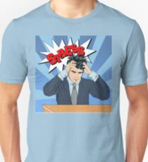 Stressed Man at Work in Pop Art Style Unisex T-Shirt