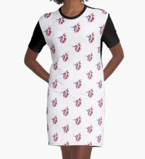 An illustration of a working heart Graphic T-Shirt Dress