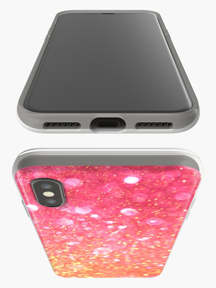 Alternate view of Glam,glitter,pink,orange,yellow,cute,girly,pattern iPhone Case & Cover