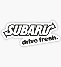 "Subaru Subway Logo ""Drive Fresh"" (white) Sticker"