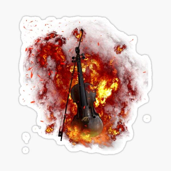 Burning Violin Items Sticker