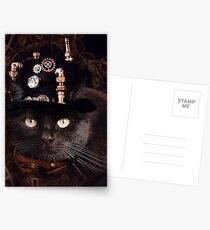 Steampunk Funny Cute Cat Postcards