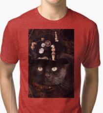 Steampunk Funny Cute Cat Tri-blend T-Shirt