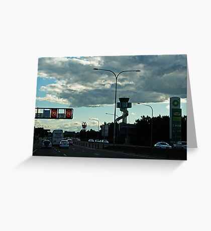 Late Afternoon Traffic Greeting Card