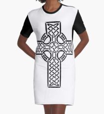 Celtic cross 1 Graphic T-Shirt Dress