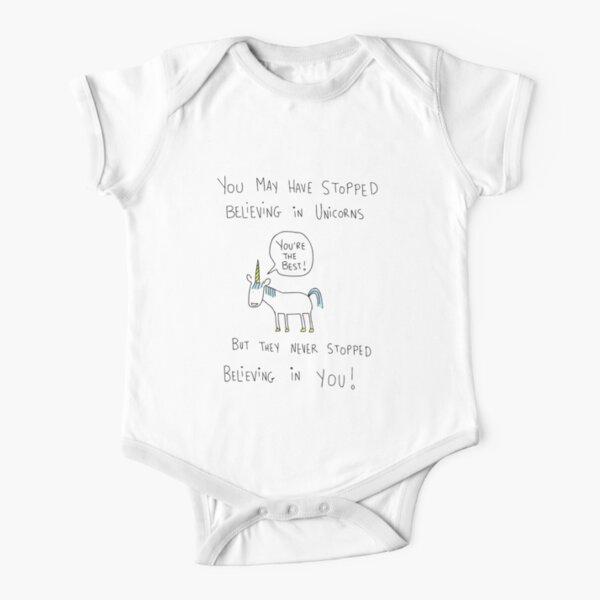 Believing in Unicorns Short Sleeve Baby One-Piece