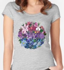 Bi Pride Flowers Women's Fitted Scoop T-Shirt