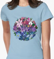Bi Pride Flowers Women's Fitted T-Shirt