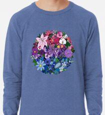 Bi Pride Flowers Lightweight Sweatshirt
