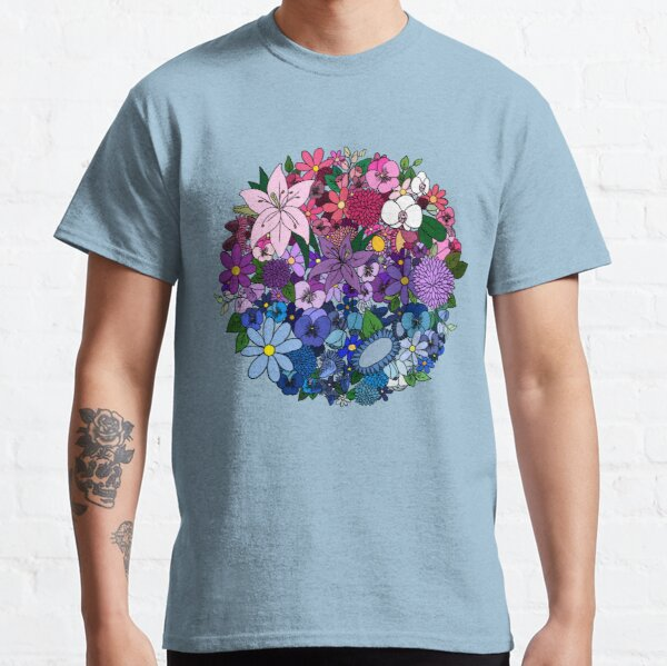 Bi Pride Flowers Classic T-Shirt