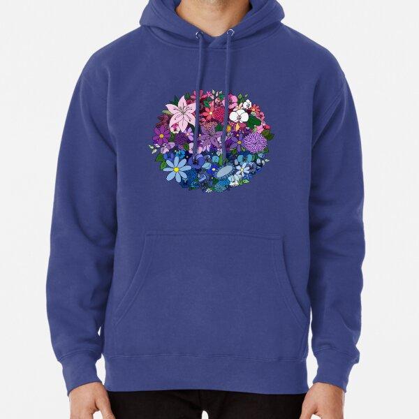 Bi Pride Flowers Pullover Hoodie
