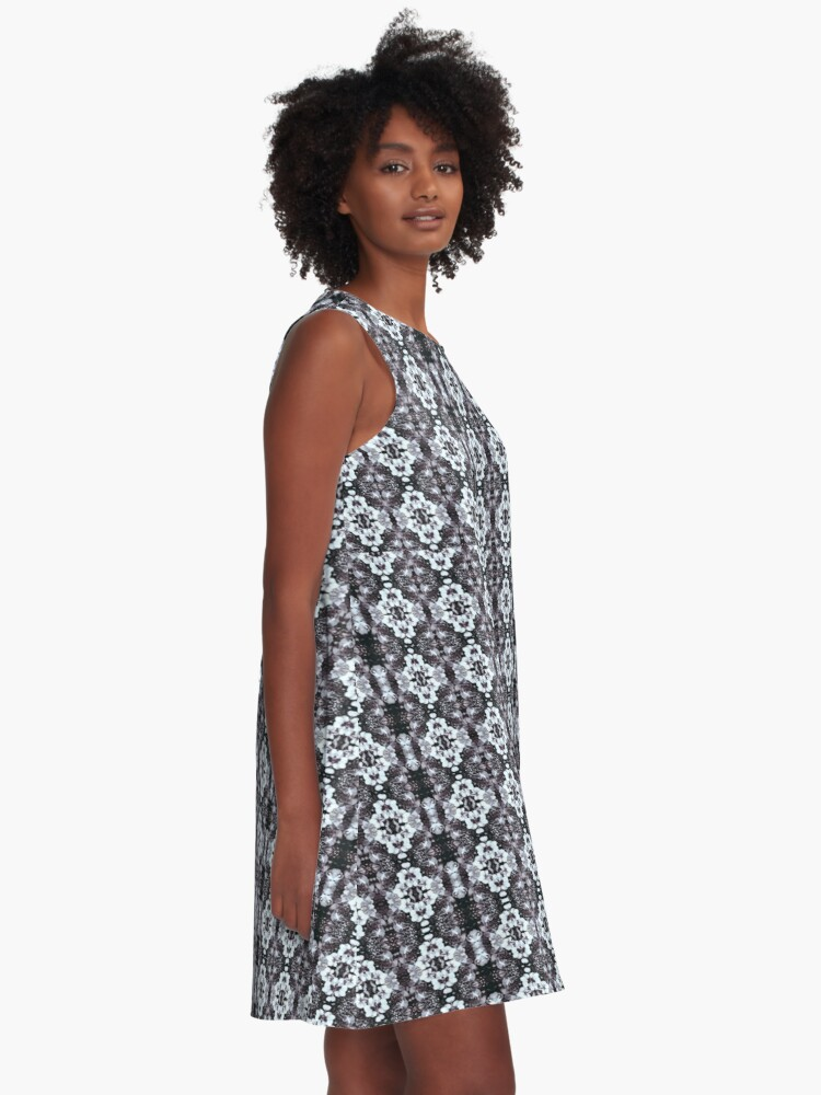 Alternate view of White Black Orchid Multi floral  A-Line Dress